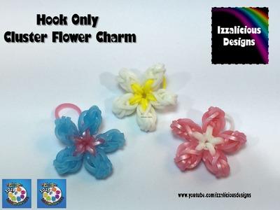 Rainbow Loom Cluster Flower Charm - Hook Only