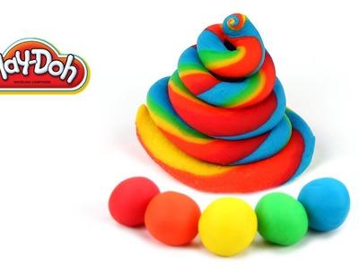 Rainbow Twist Swirly Ice Cream