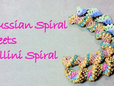Russian Spiral Meets Cellini Spiral - Russian Spiral Stitch WIth a Twist!