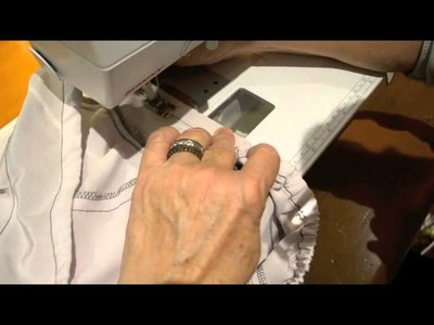 Sewing Tutorial - Sewing Elastic Into A Waist Tunnel in ONE Step (Suzy Pant Pattern)