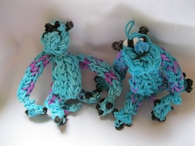 Sully (monsters inc. monsters University) Loom tutorial, part 4  (Legs & Back)