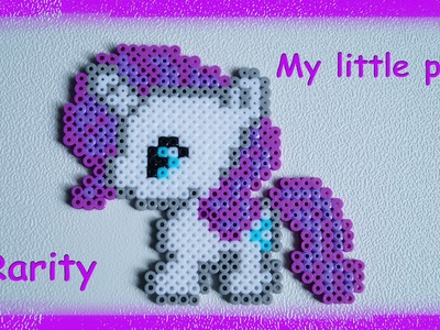 TUTORIAL Hama Beads Pyssla Perler Beads. How to Make MY LITTLE PONY Rarity