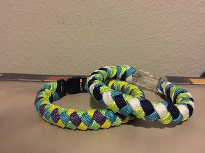 """4 Strand Paracord Braid"" With a Core and Buckle"