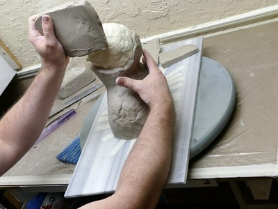 Air Dry Sculpting, Part 2 - covering with clay