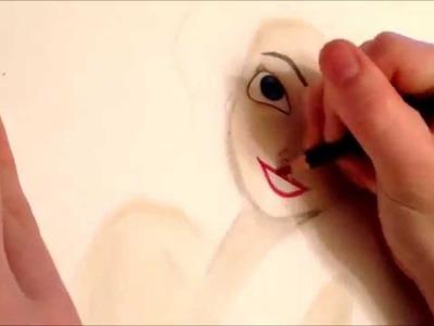 Ariel Speed drawing - The Little Mermaid