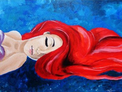 Ariel, The Little Mermaid - Speed Painting