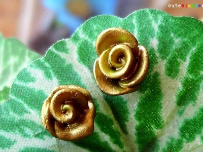 Clay Rose Gold Earrings