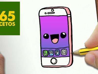 COMO DIBUJAR IPHONE 6S KAWAII PASO A PASO - Dibujos kawaii faciles - How to draw a IPHONE 6S