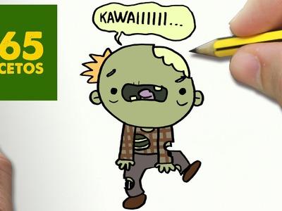 COMO DIBUJAR ZOMBIE KAWAII PASO A PASO - Dibujos kawaii faciles - How to draw a Zombie