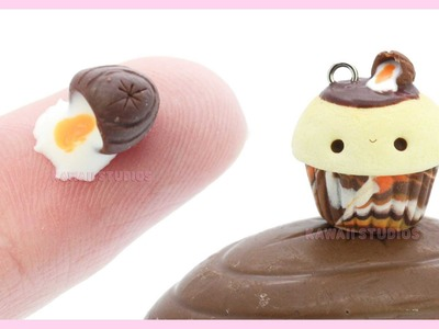 Creme Egg Miniature and Kawaii Cupcake ●  2 in 1 Polymer Clay Tutorial