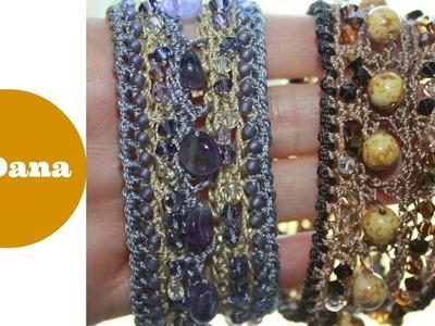 Crochet boho bracelet by Oana