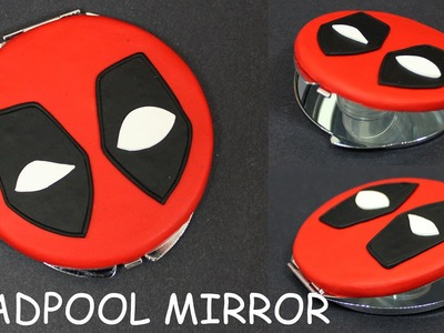 Deadpool Inspired Compact Mirror Polymer clay Tutorial