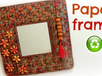 DIY: how to make a paper frame. Cómo hacer un marco de papel.