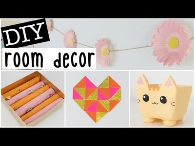 DIY Room Decor 2016 - Four EASY & INEXPENSIVE Ideas!