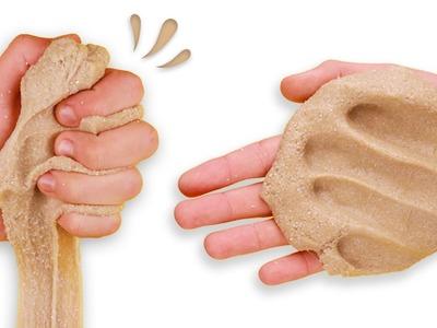DIY SAND SLIME - How to make slime with sand!