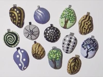 EASY Painted Rock Pendants Inspired By Ilene McInnes