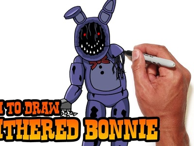 How to Draw Withered Bonnie- FNAF- Video Lesson