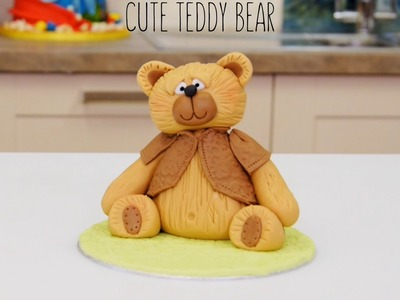 How To Make a Fondant.Icing Teddy Bear Cake Topper | Paul Bradford Sugarcraft School