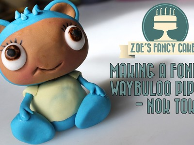 How to make a fondant waybuloo pipling Nok Tok (blue) How To Tutorial