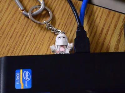 How to make a LEGO man minifigure USB key chain