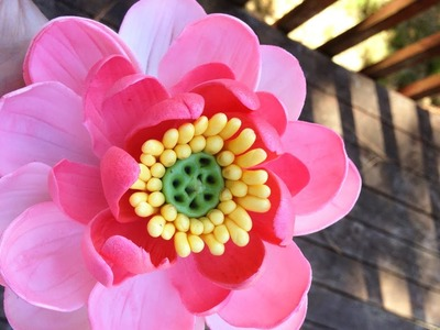 How to make a Lotus Flower (Gumpaste)