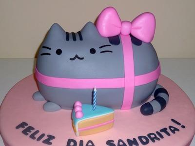 How to make a Pusheen Cake. Cómo hacer una torta de Pusheen