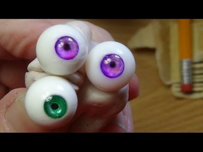 How to make beautiful glass eyes for your dolls