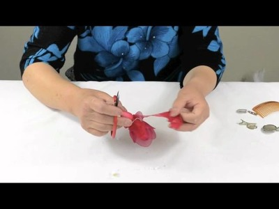 How to Make Nylon Flower Corsage & Hair Clip or Comb