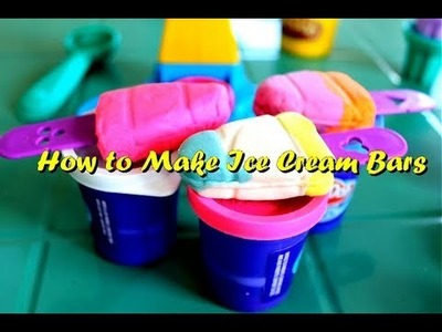 How to Make Play-Doh Ice Cream Bars | Play Doh Clay Double Twister