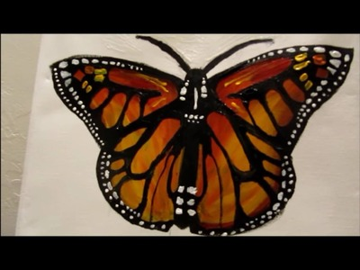 How to paint a Monarch Butterfly