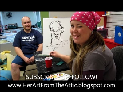 How to paint an abstract portrait (blind contour drawing)