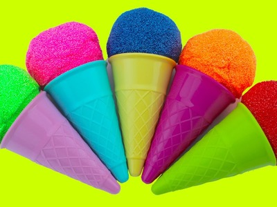Ice Cream Cone Play Foam Clay Surprise Eggs | Teletubbies Pocoyo Angry Birds Minions MLP The Smurfs