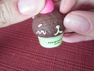 Kapibarasan Cafe Re-Ment Charms (Ice Cream and Cupcake)