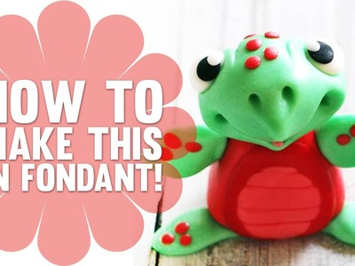 Learn how to make a Cute Fondant Turtle - Cake Decorating Tutorial