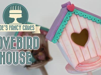Lovebird house cake topper: Valentines collaboration