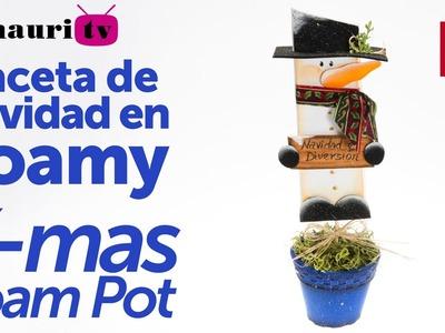 Maceta Navidad en Foamy ( Foam Christmas flowerpot ) 2.2