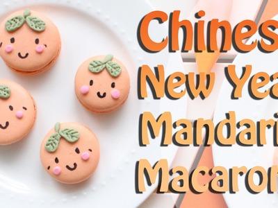Mandarin Orange Chinese New Years Macarons