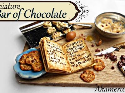 Miniature Chocolate bar tutorial - Miniature baking scene