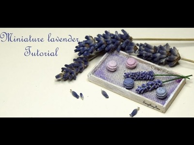 Miniature lavender Tutorial-Polymer Clay