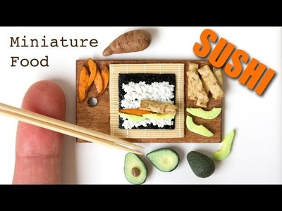Miniature Sushi from Polymer Clay. Speed Sculpting Tutorial