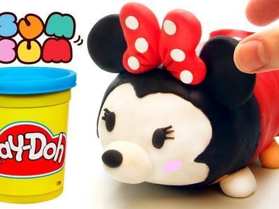 Minnie Mouse Tsum Tsum play doh stop motion claymation plastilina disney