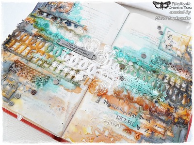 Mixed media art journal for Finnabair tutorial