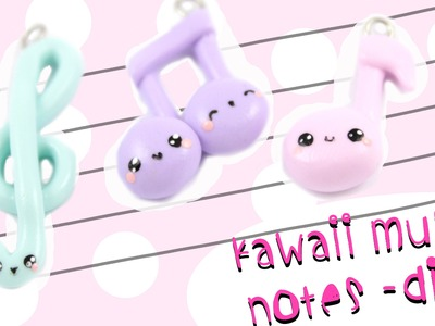 Music notes Clay charm DIY! | Kawaii Friday