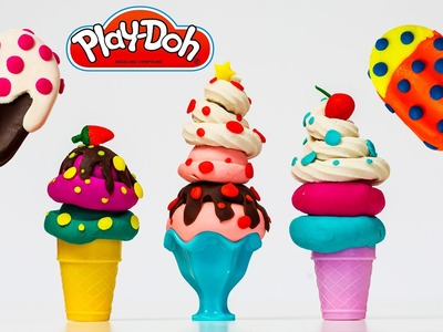 Play doh Ice cream Popsicle Sundae Ice Cream Cone Playdoh