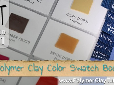 Polymer Clay Color Swatch Book