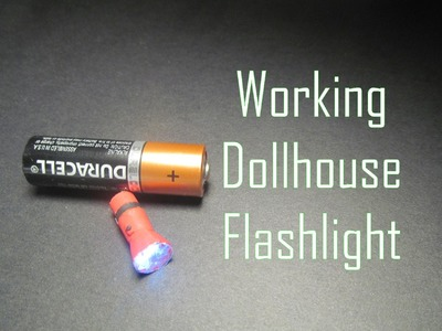 Polymer Clay Dollhouse Miniature Working Flashlight