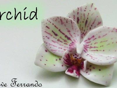 Polymer Clay Orchid Flower Pendant Tutorial