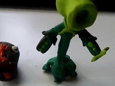 PVZ Garden Warfare CLAY BUILD Pea Shooter
