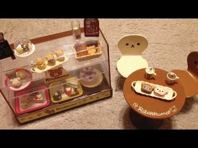Rilakkuma Re-ment Display Case and Table Unboxing
