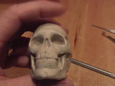 Sculpting a Human Skull-part 3 of 3